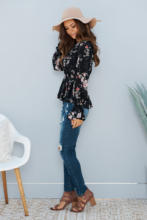 The Perfect Touch Long Sleeve Top (Black)