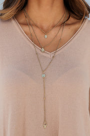 Sweeter Than You Layered Necklace (Antique Gold)