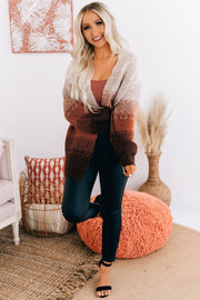 Neutral Stance Ombre Open Front Cardigan (Copper) - NanaMacs