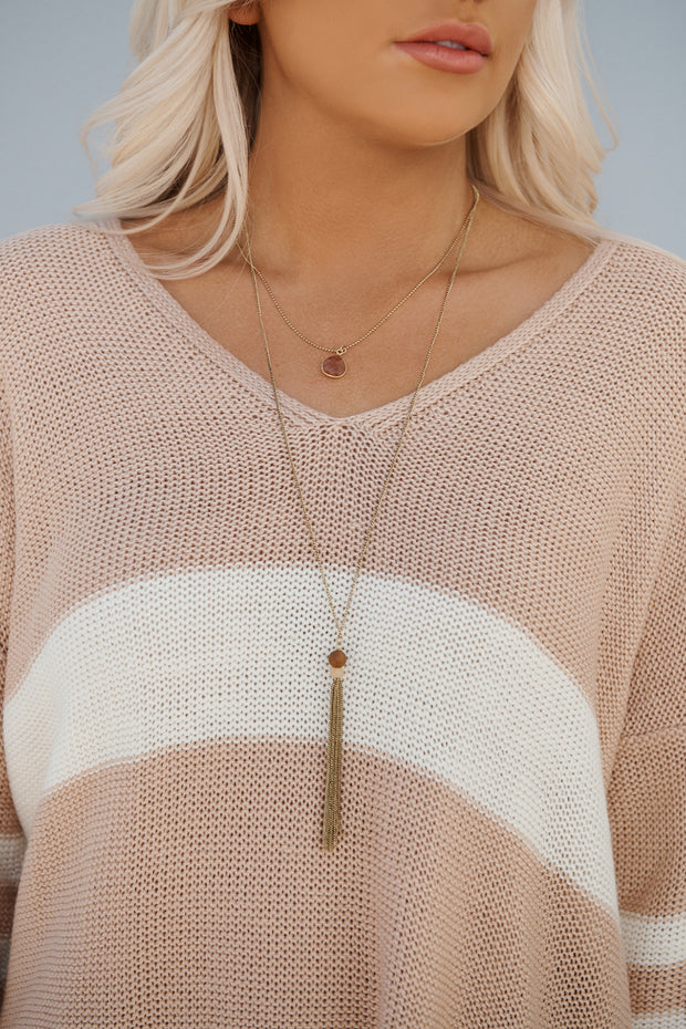 Simpler Times Layered Necklace (Antique Gold)