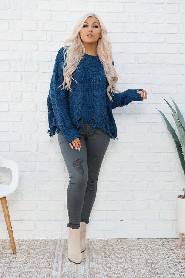 Loyal To Me Sweater (Blue)