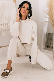 Rest And Recuperate Knit Two Piece Set (Oatmeal) - NanaMacs