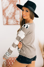 The Carlton Color Block Sweater (Mocha Multi) - NanaMacs