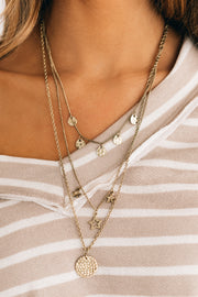 Well Played Layered Necklace (Antique Gold) - NanaMacs