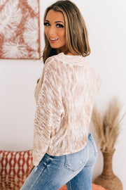 Love Without Limits Off The Shoulder Sweater (Blush/Multi) - NanaMacs