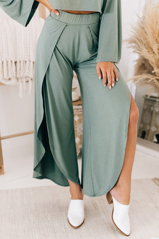 Music To My Ears Two Piece Set (Army Green) - NanaMacs