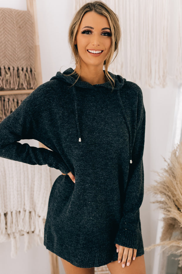 Afternoon Chill Tunic Hoodie (Charcoal) - NanaMacs