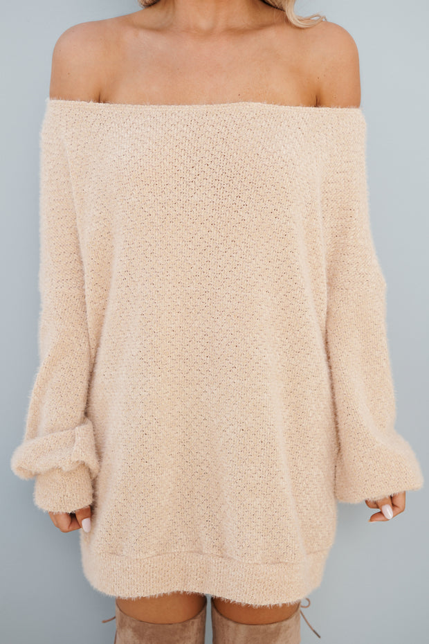 Looking For More Sweater (Beige) - NanaMacs