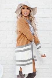 Fall Into Me Cardigan (Camel/Ivory)