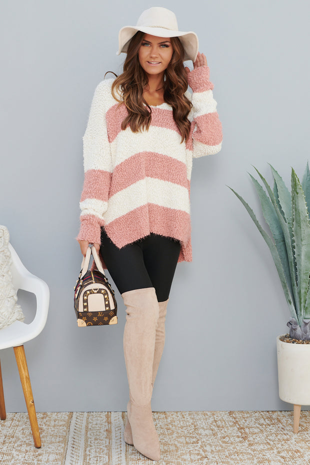 Beacon Of Hope Sweater (Dusty Coral)