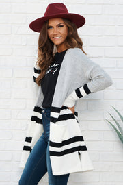 Fall Into Me Cardigan (Heather Grey/Ivory)