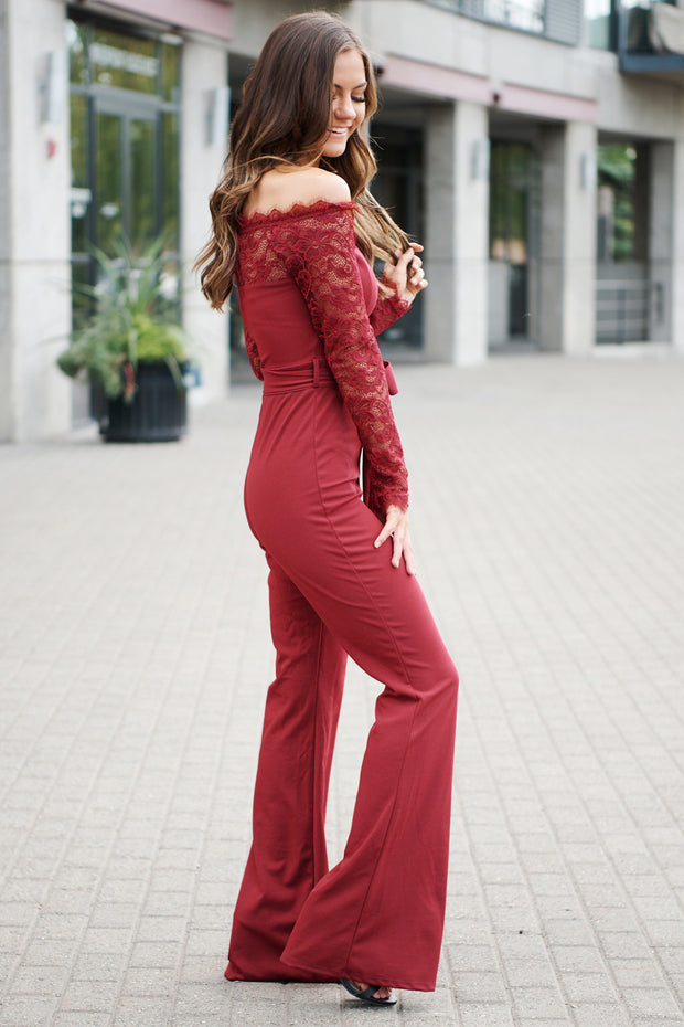 Wish Come True Jumpsuit (Burgundy)