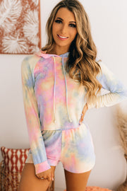 Chill Worthy Tie Dye French Terry Set (Pink/Yellow/Blue) - NanaMacs