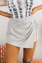 Game, Set, Match Knit Skort (Heather Grey) - NanaMacs