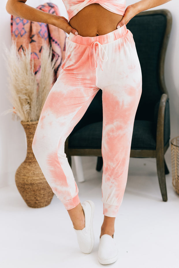 Match Made In Paradise Tie Dye Two Piece Set (Coral) - NanaMacs