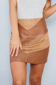 Keep The Groove Skirt (Camel)