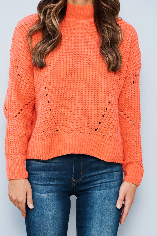 Next Best Thing Sweater (Neon Coral) - NanaMacs
