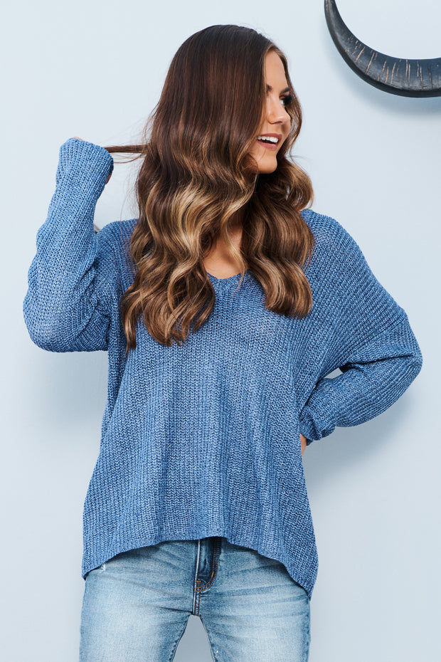 Only Good Thing Sweater (Blue) - NanaMacs