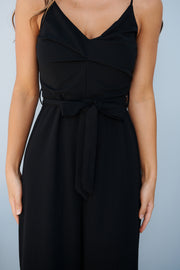 Pay Attention Jumpsuit (Black)