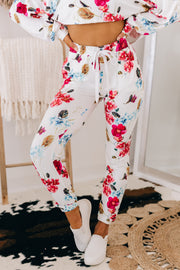 Moment In The Sun Floral Two Piece Set (Ivory Floral) - NanaMacs
