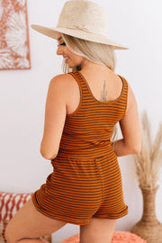 Just Hanging Around Striped Two Piece Set (Rust Stripe) - NanaMacs