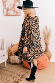 Full Of Confidence Animal Printed Kimono (Animal Brown) - NanaMacs