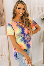 Radiance Within Tie Dye Top (Coral Purple) - NanaMacs