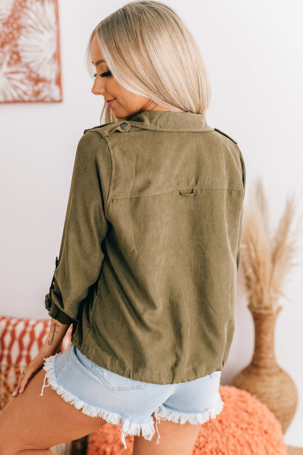 Sweeter Than Cider Lightweight Jacket (New Olive) - NanaMacs