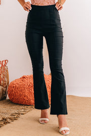 Lifelong Crush High Rise Flare Pants (Black) - NanaMacs