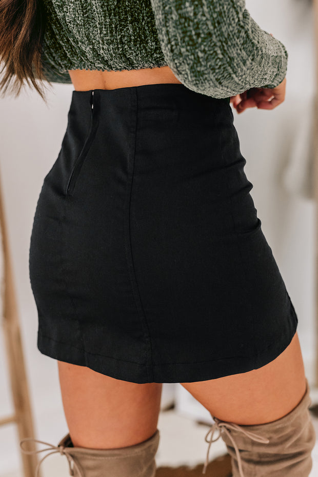 See You Again Mini Skirt (Black) - NanaMacs