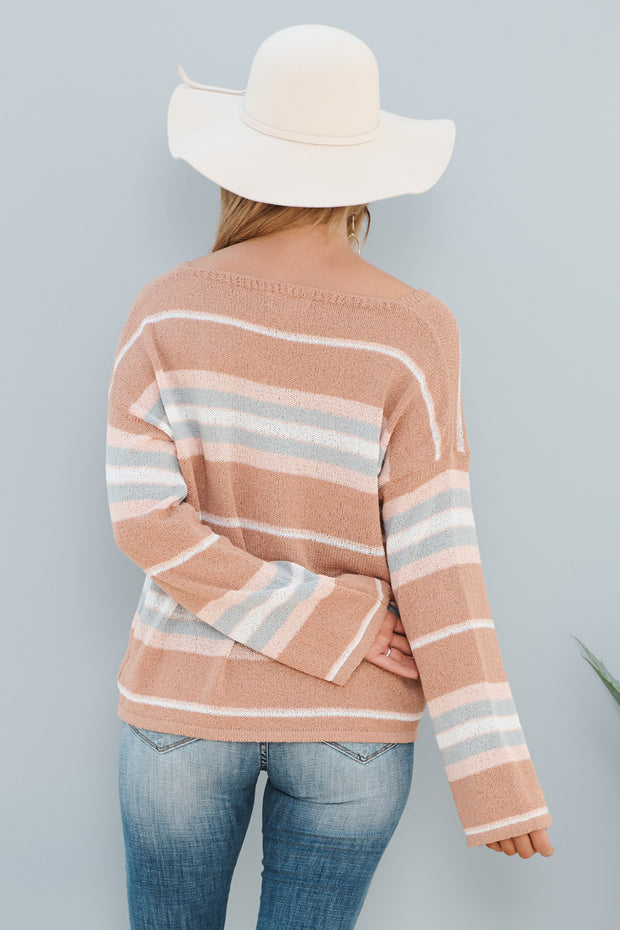 Careless Sweater (Blush Combo)