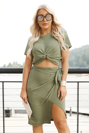 Take Things Up A Knot Top (Olive Night)