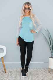 Casual Times Top (Blue)