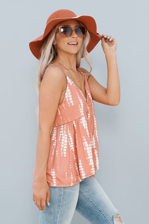 Peaches And Cream Tank Top (Coral/Cream)