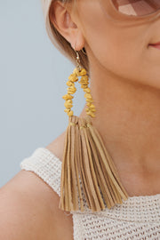 Brighten Up My Day Drop Earrings (Yellow)