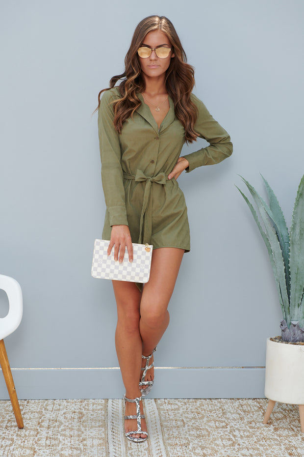 Less Is Always More Romper (Olive)
