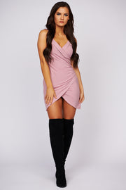 Good Luck Charm Wrap Dress (Blush)