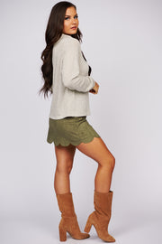 When We First Met Cowl Neck Knit Top (Olive) - NanaMacs
