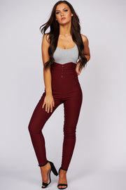 Sleek And Slay Criss Cross Bodysuit (Heather Grey) - NanaMacs
