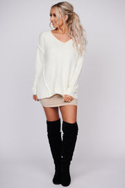 Falling Dreams Pullover Sweater (Ivory)