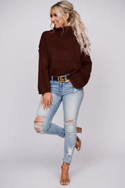 Where Do We Begin Turtle Neck Sweater (Chocolate)