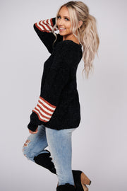 My Signature Knit Bubble Sleeve Sweater (Black)