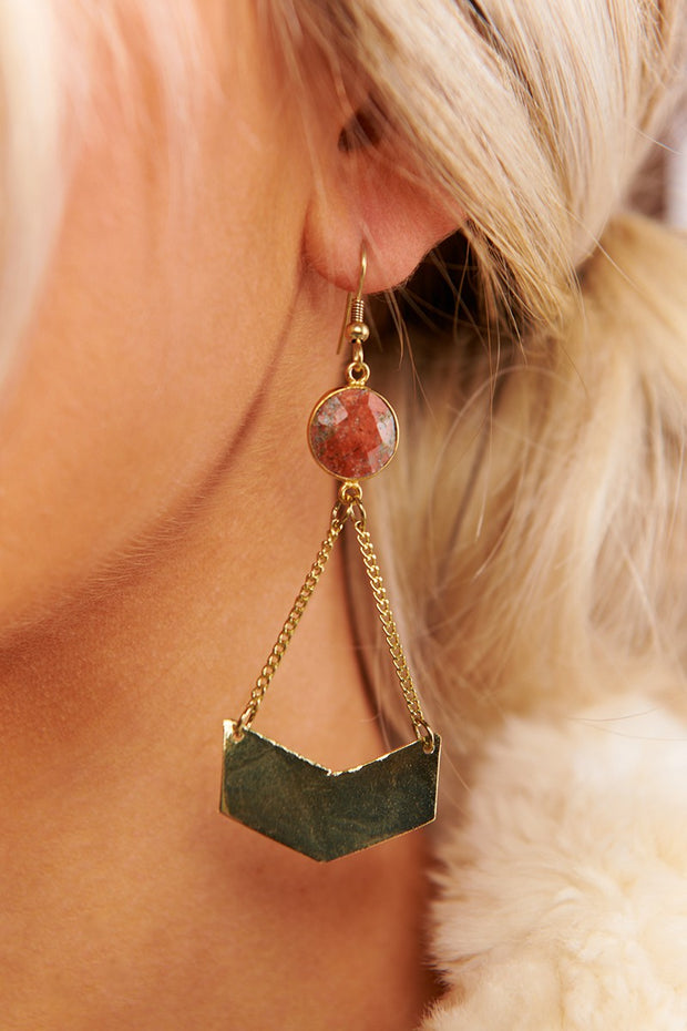 Zelda Drop Earrings (Gold) - NanaMacs