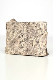 It Factor Faux Leather Crossbody Clutch (Grey Snake) - NanaMacs
