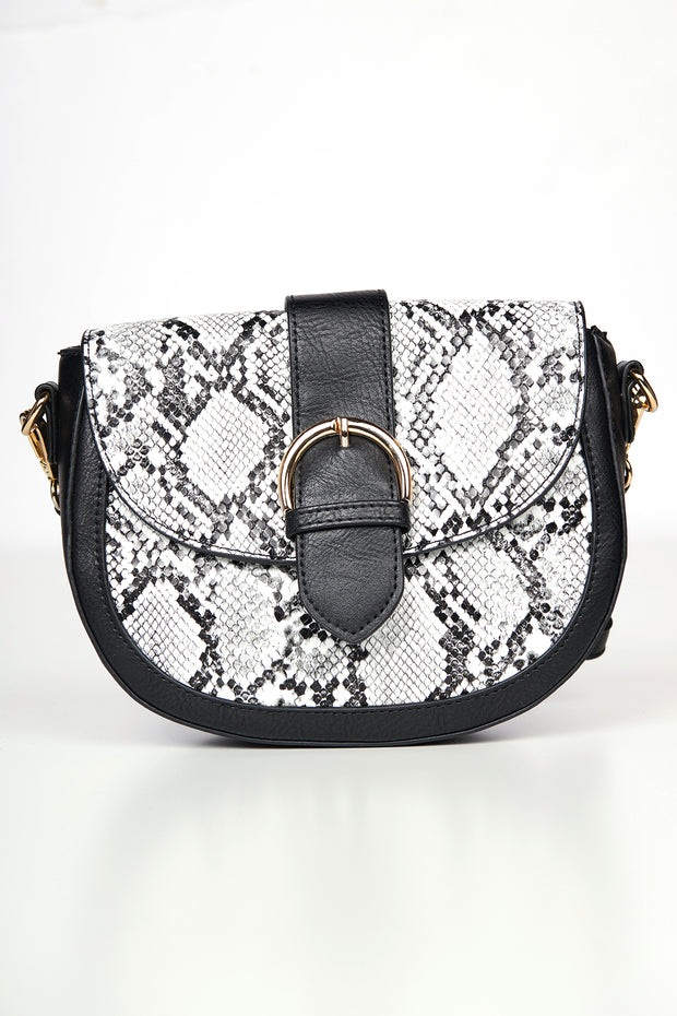 Meet Me In Manhattan Snake Skin Purse (Black)