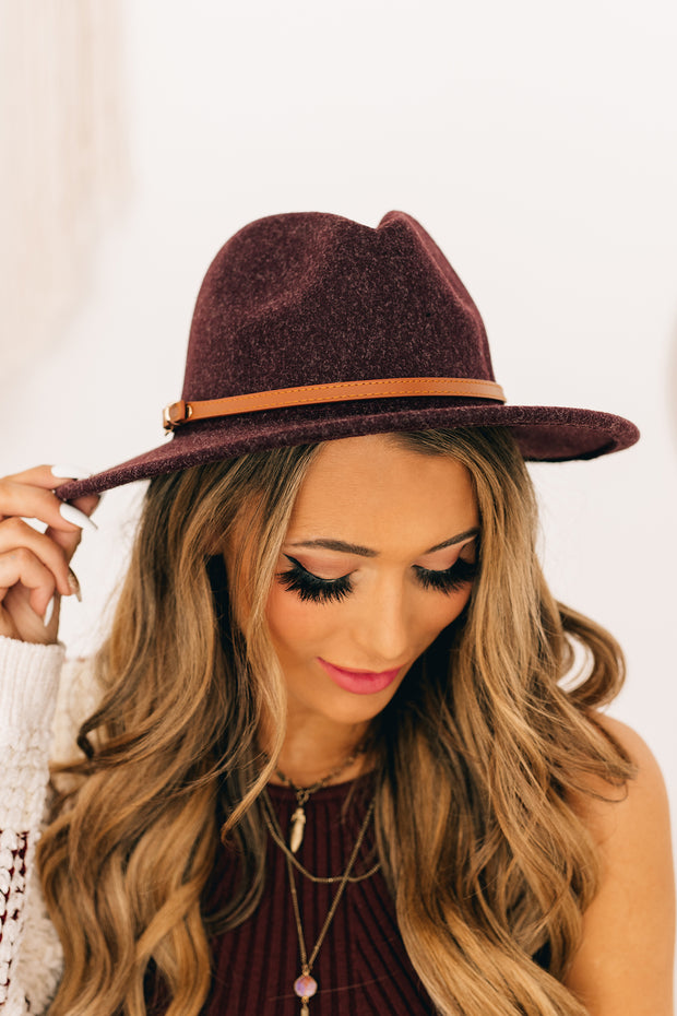 Down The Lane Wool Hat (Plum) - NanaMacs