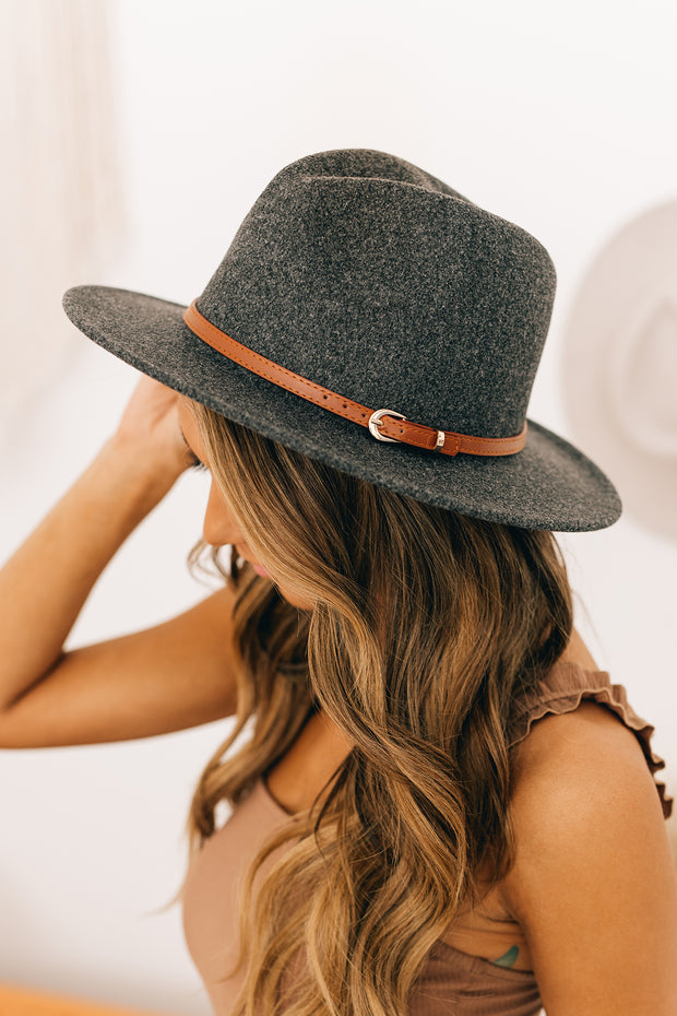 Down The Lane Wool Hat (Dark Grey) - NanaMacs