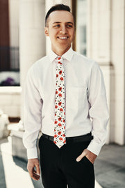 Classy Guy Floral Skinny Tie (Ivory Floral) - NanaMacs
