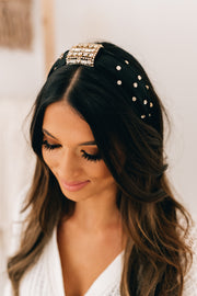 Expensive Taste Diamond Embellished Headband (Black) - NanaMacs