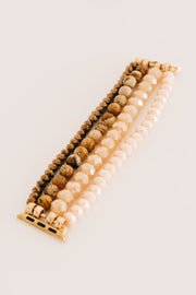 Natural Choice Beaded Apple Watch Band (Blush/Brown) - NanaMacs